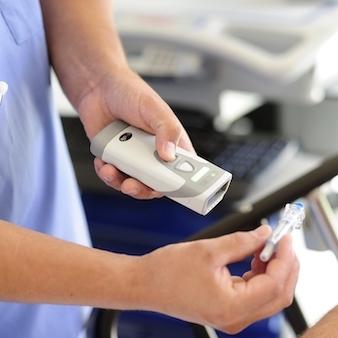 Bedside medication scanning with a